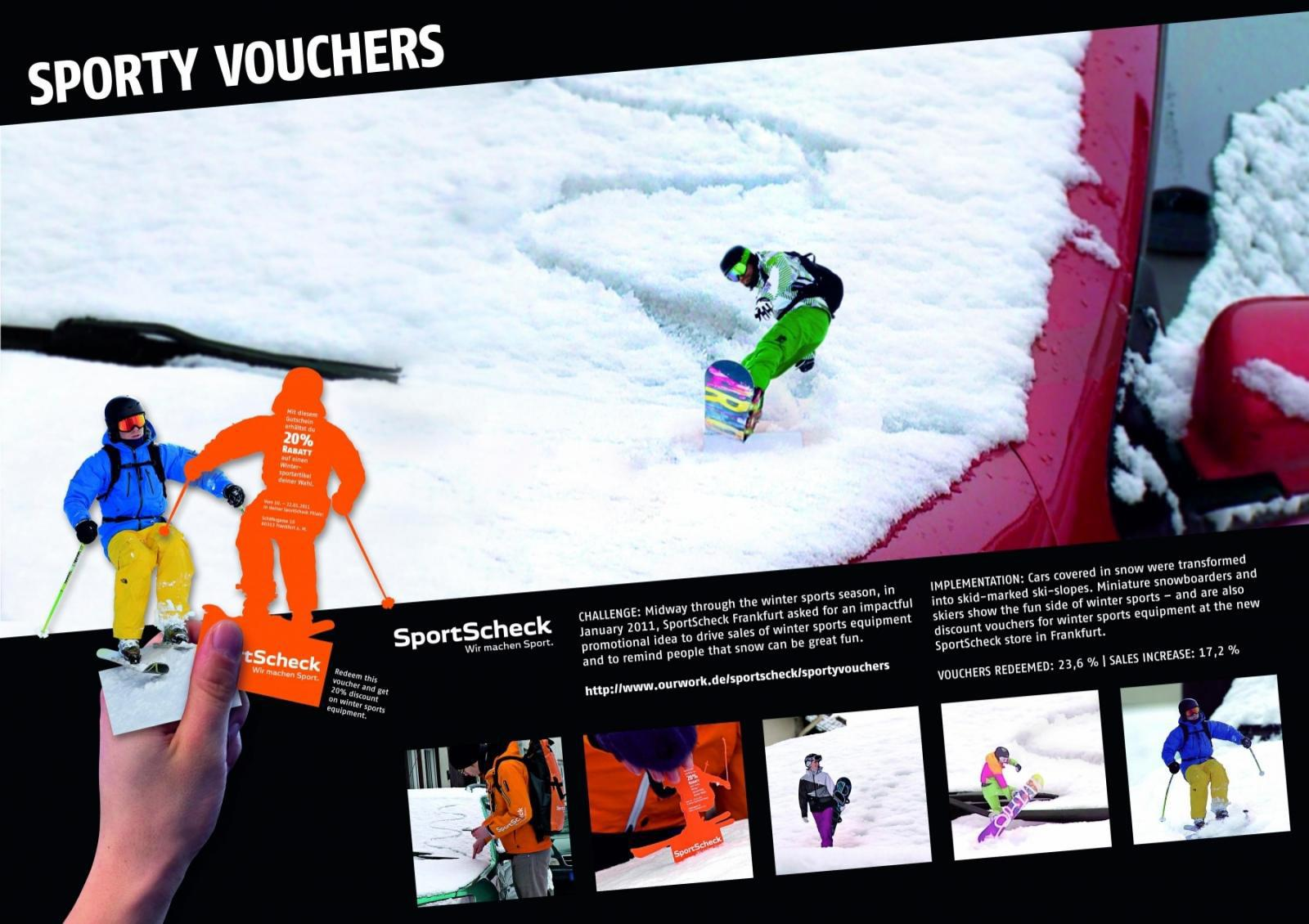 SportsCheck Ambient Ad -  Sporty Vouchers