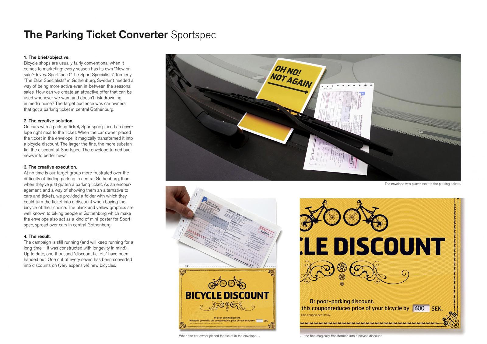 Sportspec Direct Ad -  Parking ticket