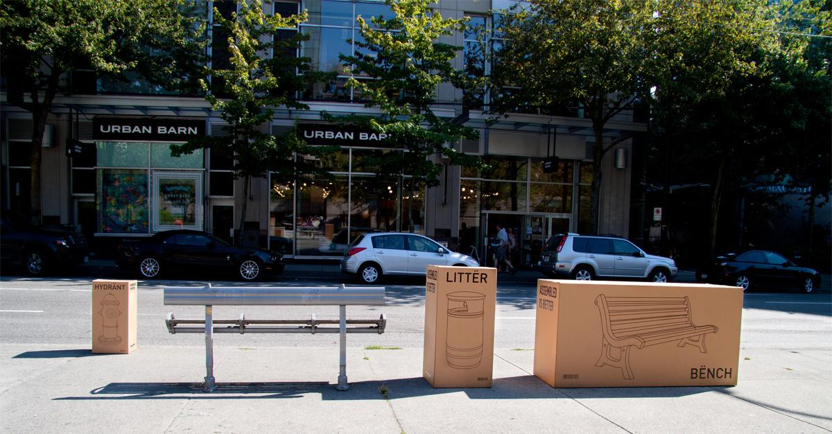 Urban Barn Ambient Ad -  Boxes