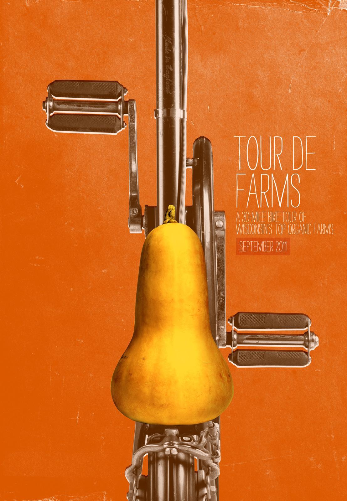Braise Local Food Print Ad -  Tour de Farms, Squash Seat