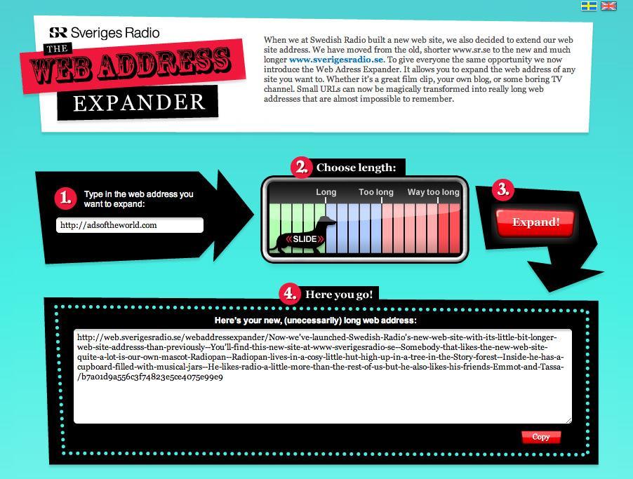 Sveriges Radio Digital Ad -  The Web Address Expander