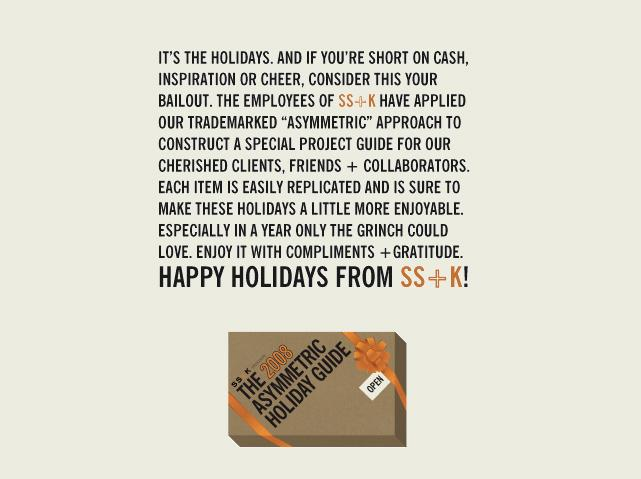 SS+K Digital Ad -  2008 Holiday Guide