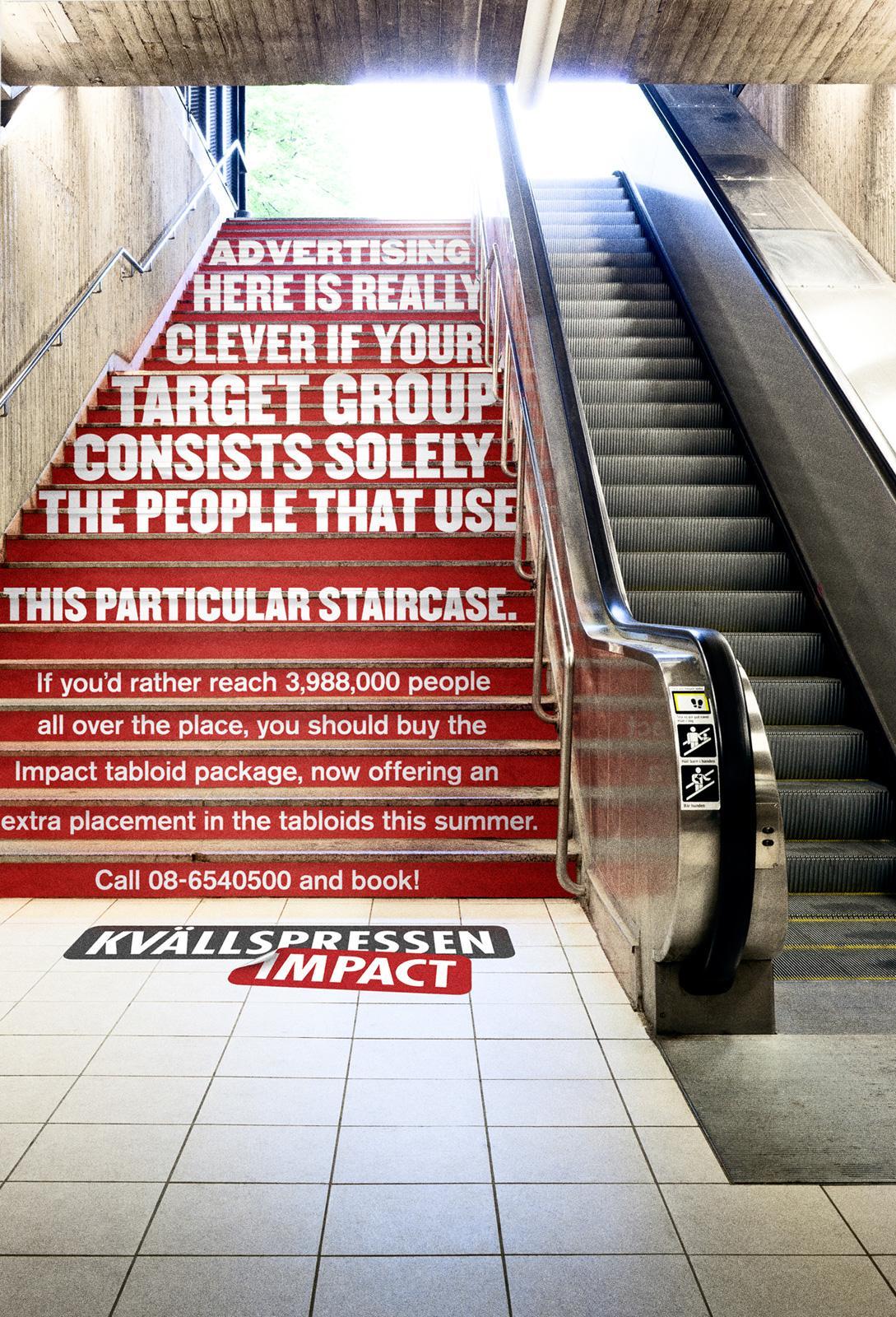 Kvällspressen Impact Outdoor Ad -  A really unalternative media, Stairs