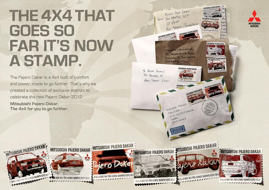 Mitsubishi Direct Ad -  Stamps