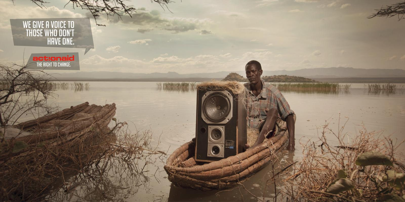 Action Aid Print Ad -  Speakers, 6