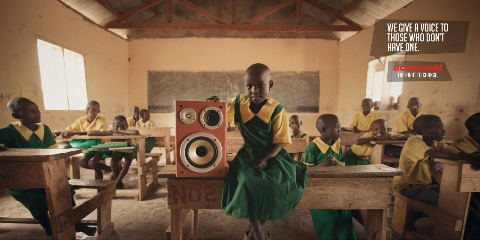 Action Aid Print Ad -  Speakers, 7