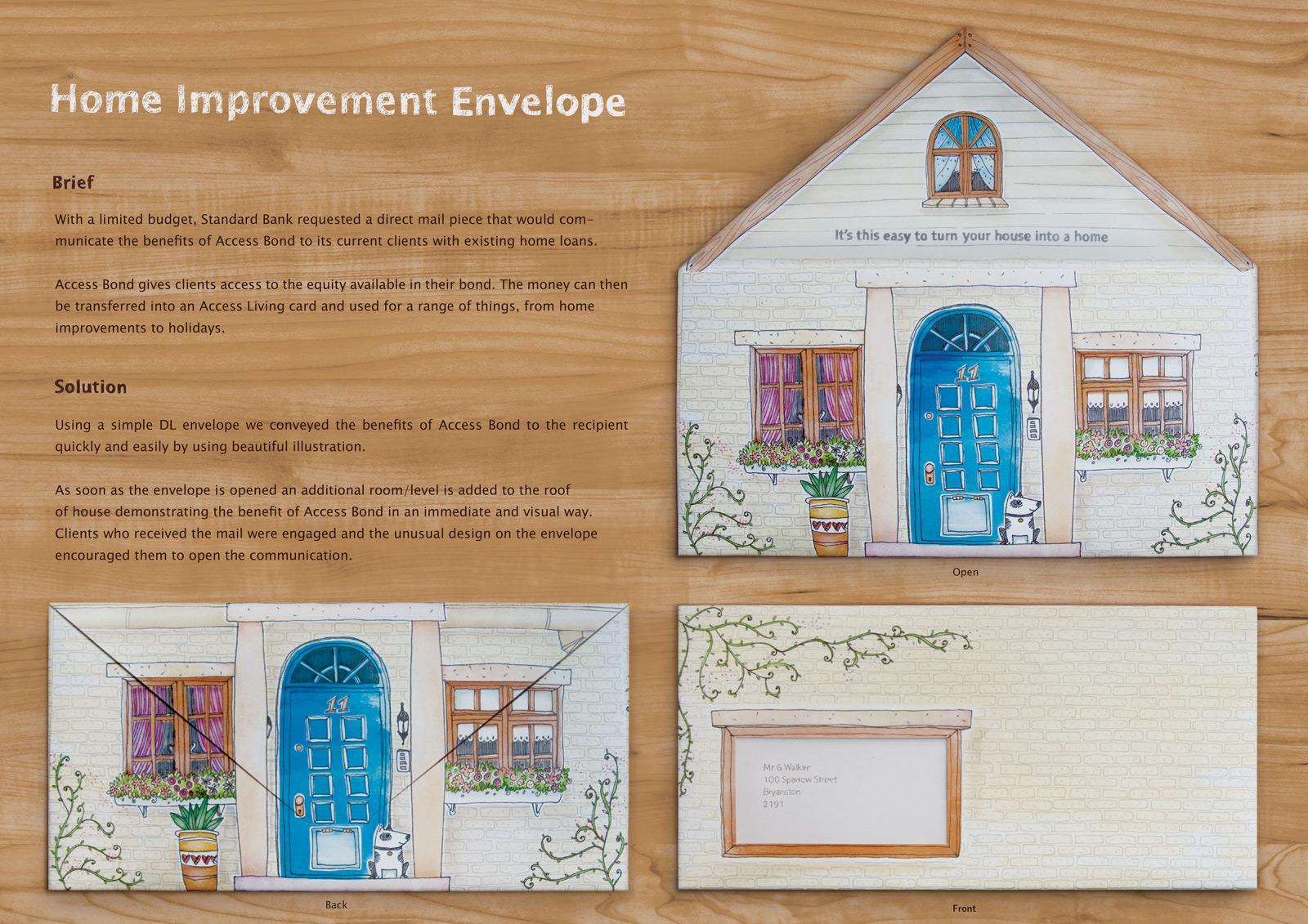 Standard Bank Direct Ad -  Home improvement envelope