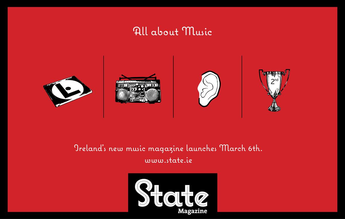 State Print Ad -  All about music, 2