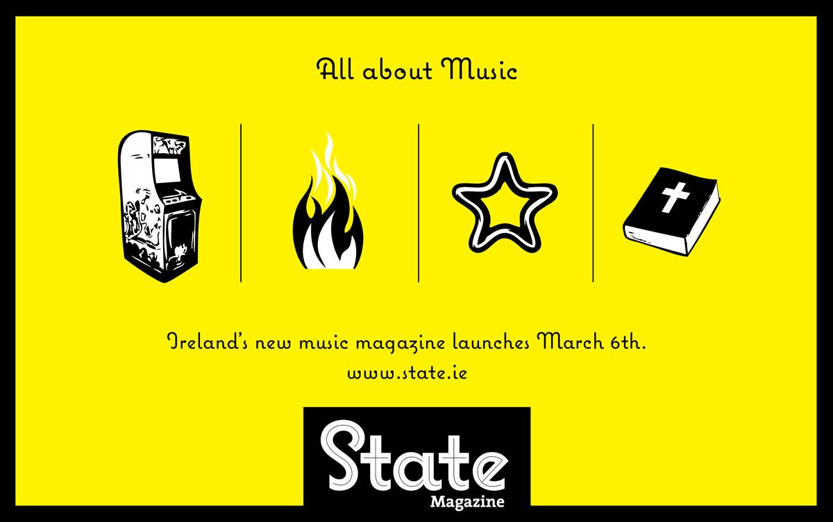 State Print Ad -  All about music, 3
