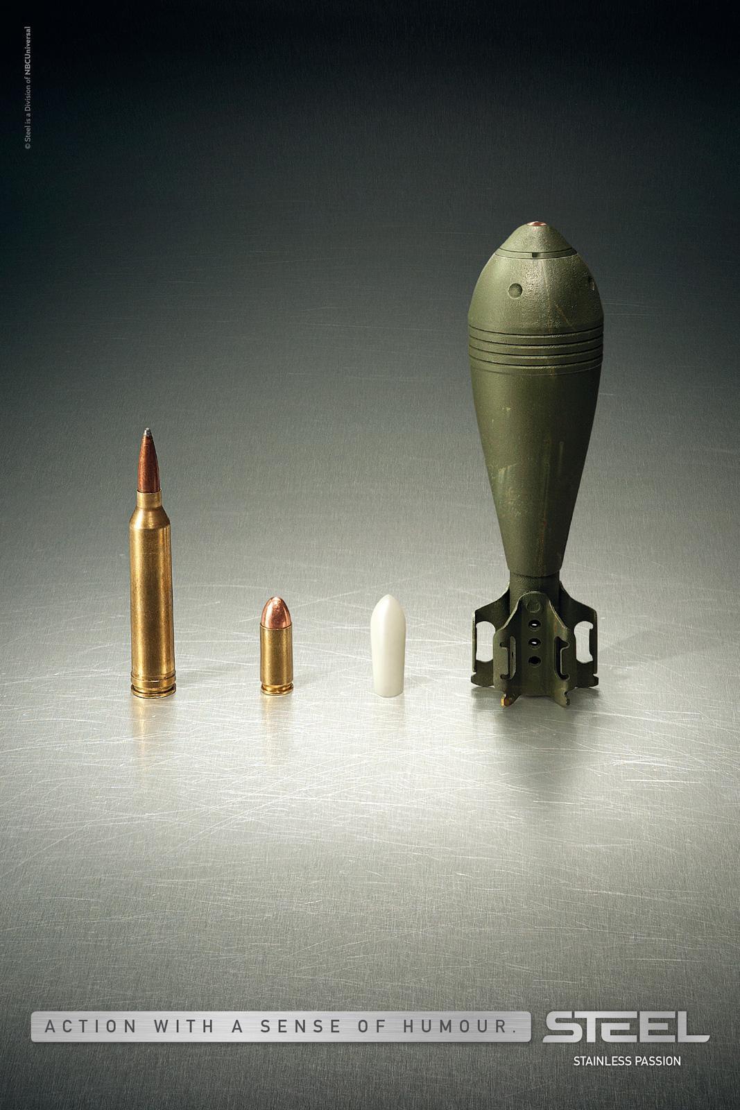 Steel TV Print Ad -  Bullet