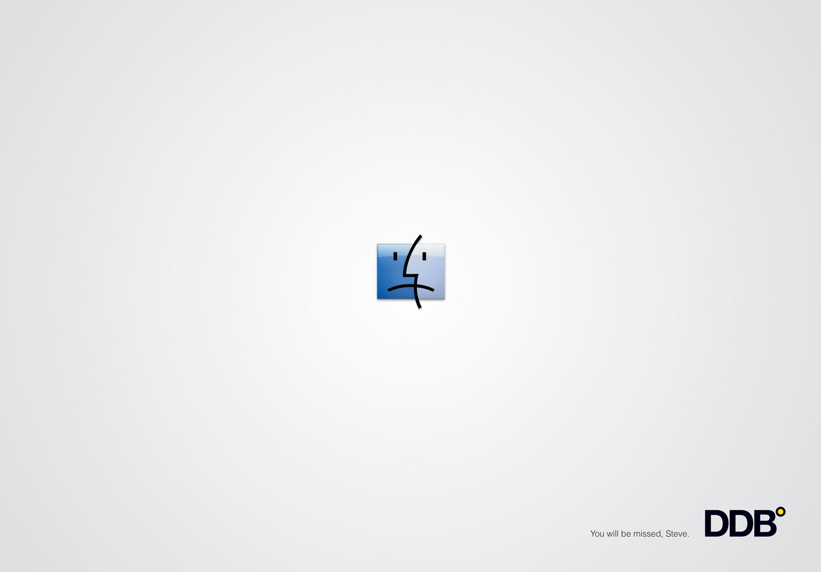 DDB Print Ad -  Homage to Steve Jobs, Sad face