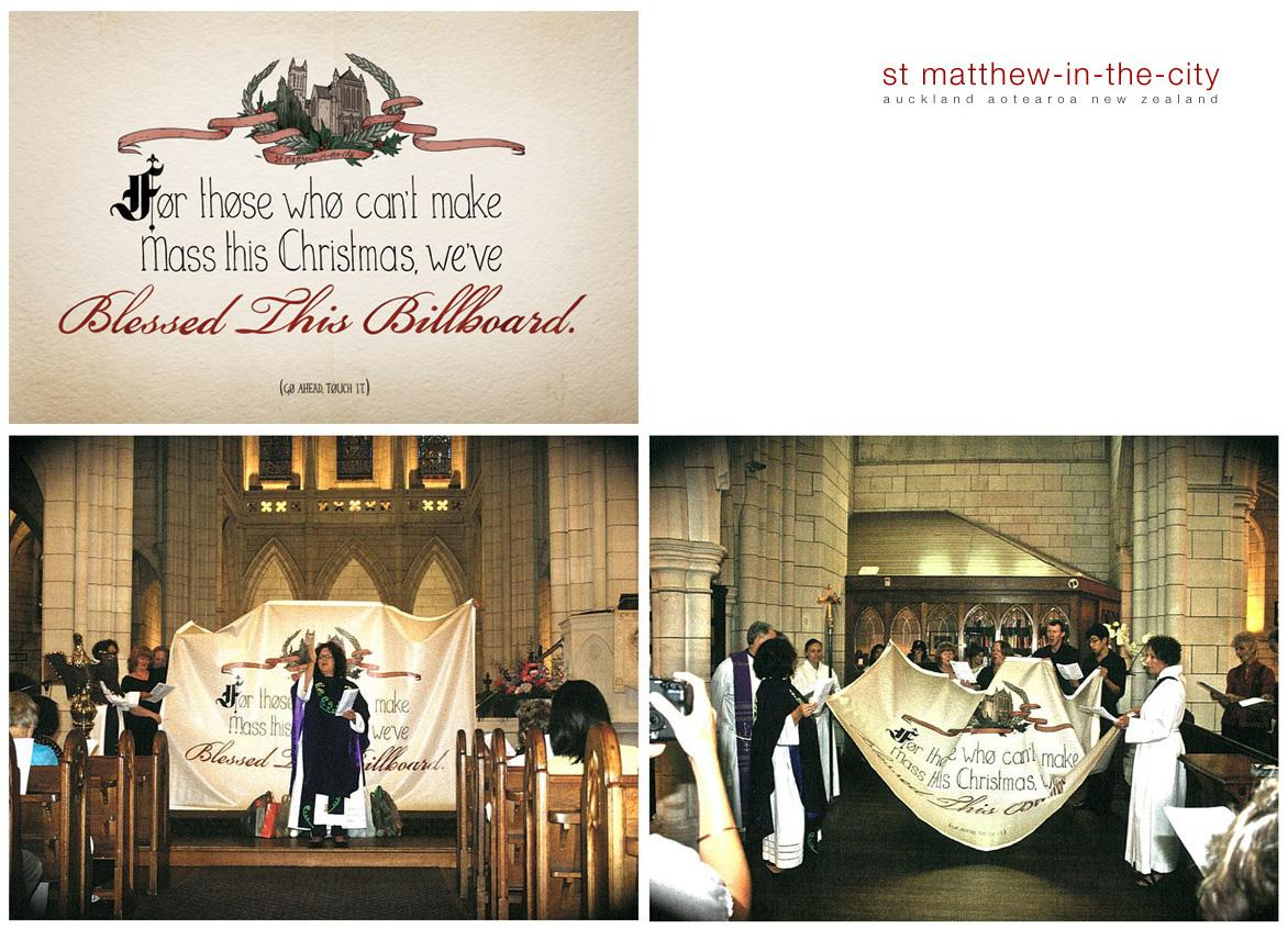 St Matthew-in-the-City Ambient Ad -  The blessed outdoor ad