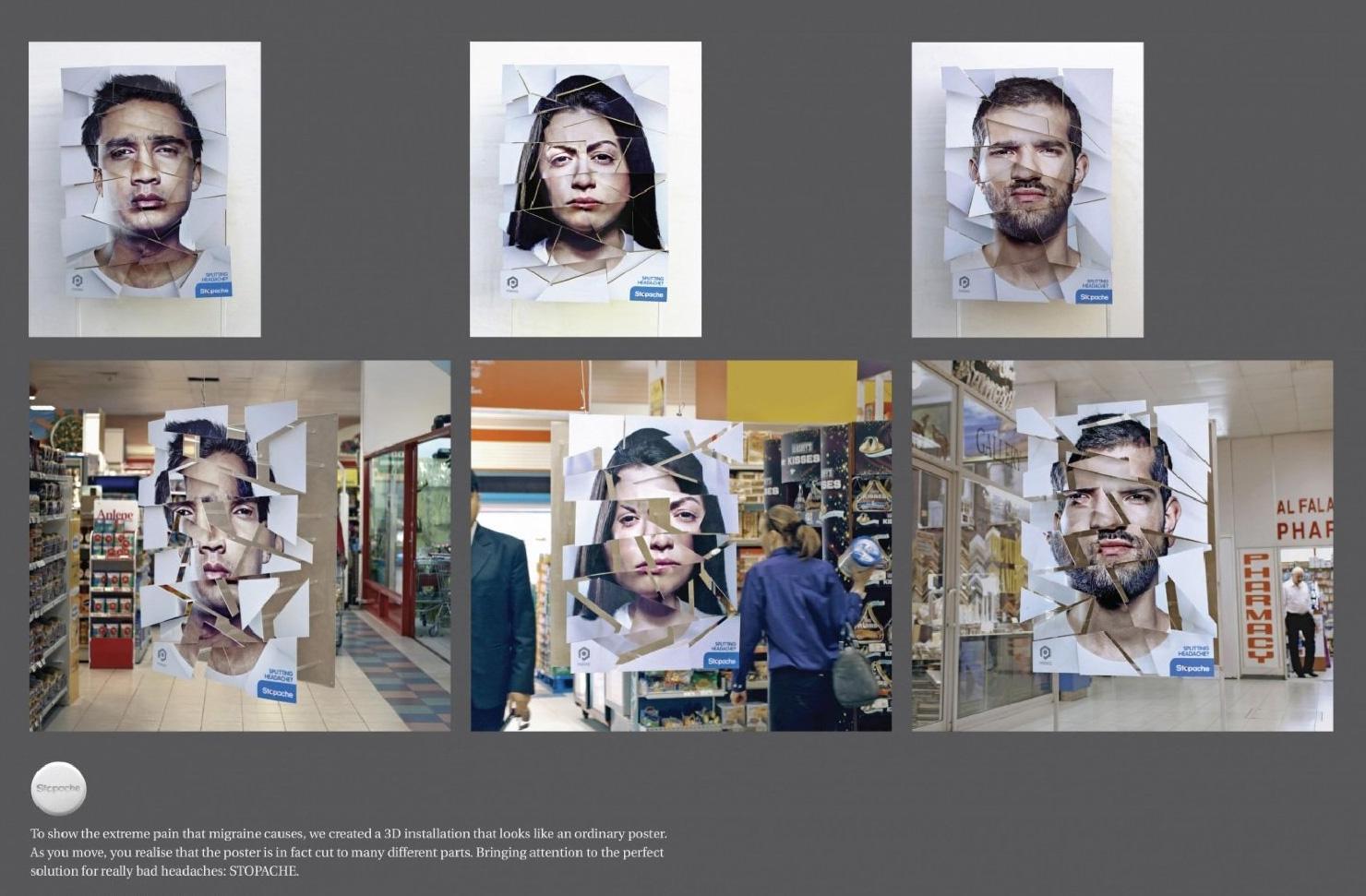 Stopache Outdoor Ad -  Splitting Heads