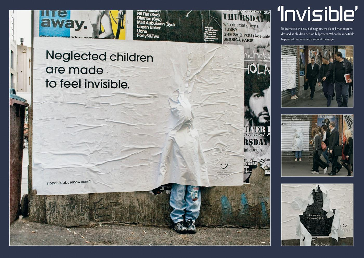 Australian Childhood Foundation Ambient Ad -  Invisible