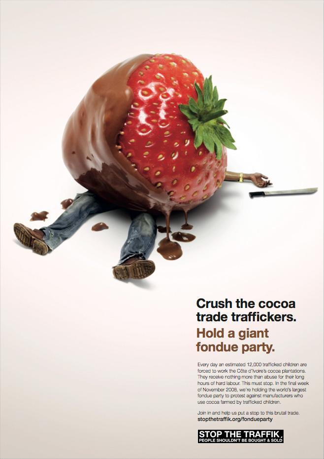 Stop the Traffik Print Ad -  Fondue