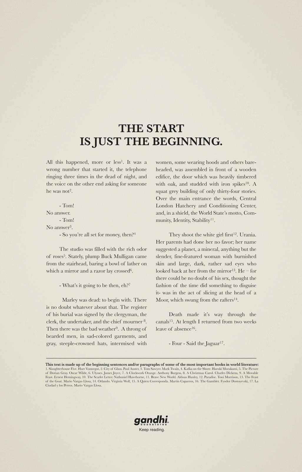 Gandhi Bookstores Print Ad -  Story II
