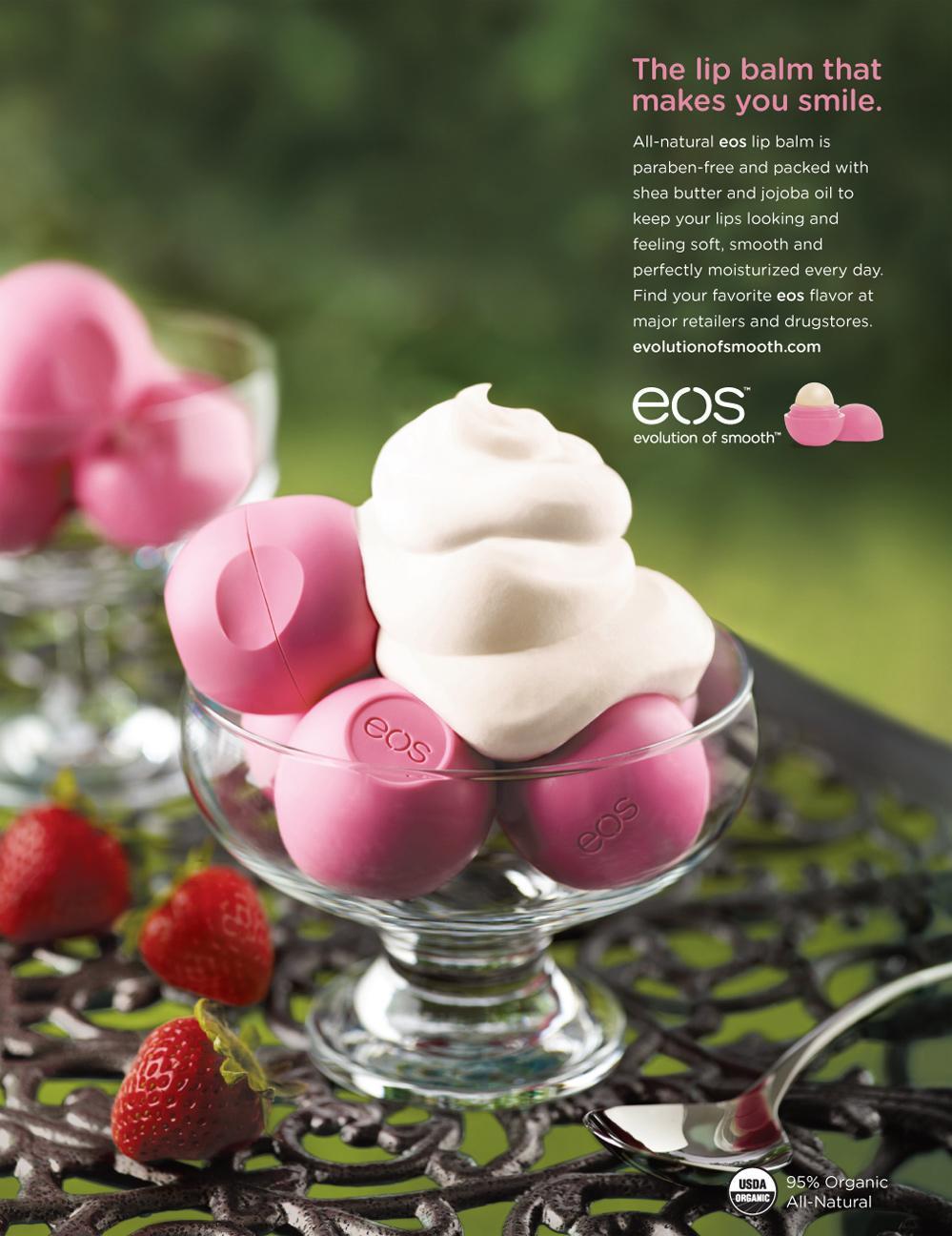EOS Lip Balm Print Ad -  Strawberry Cream