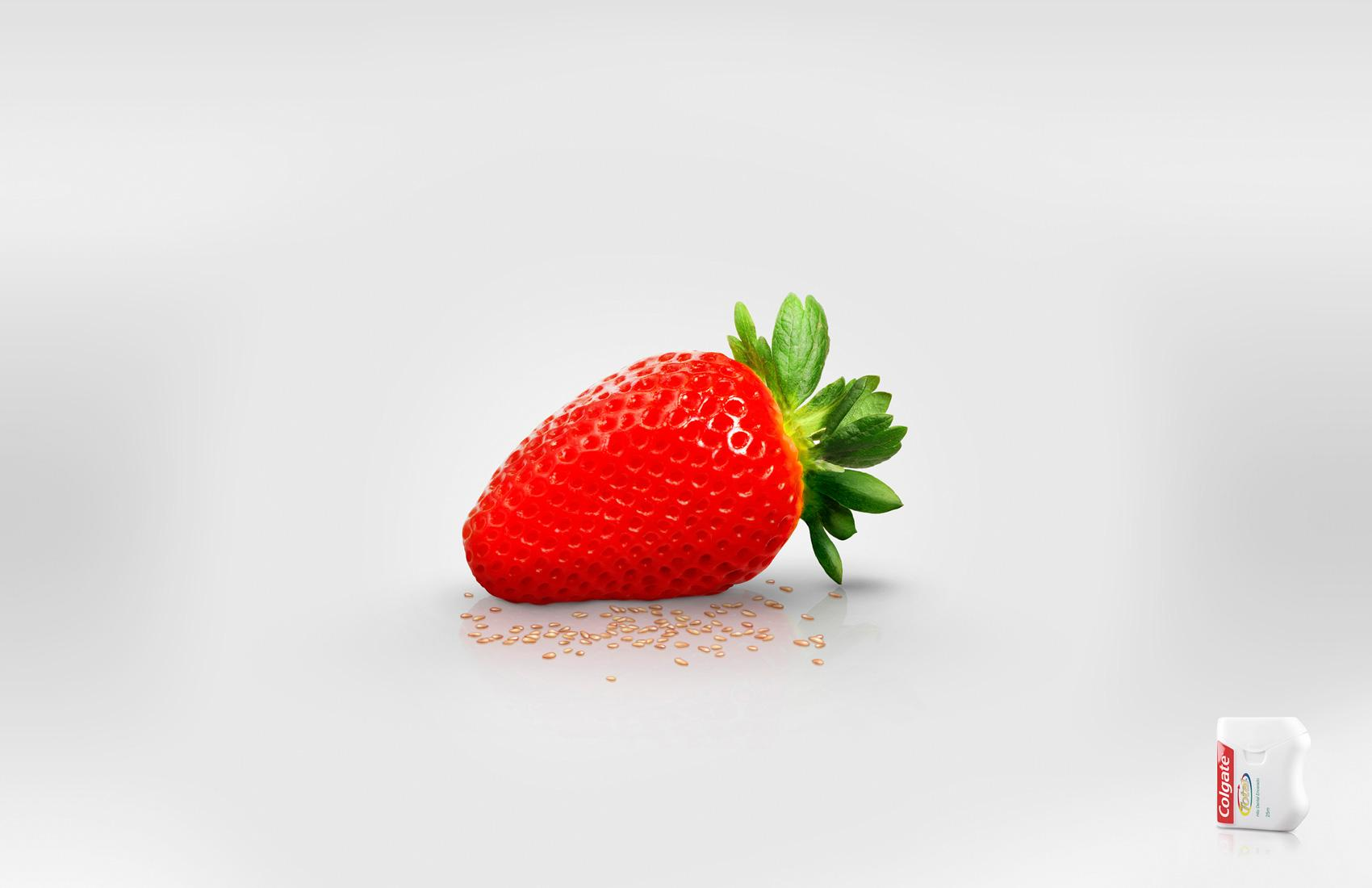 Colgate Print Ad -  Strawberry