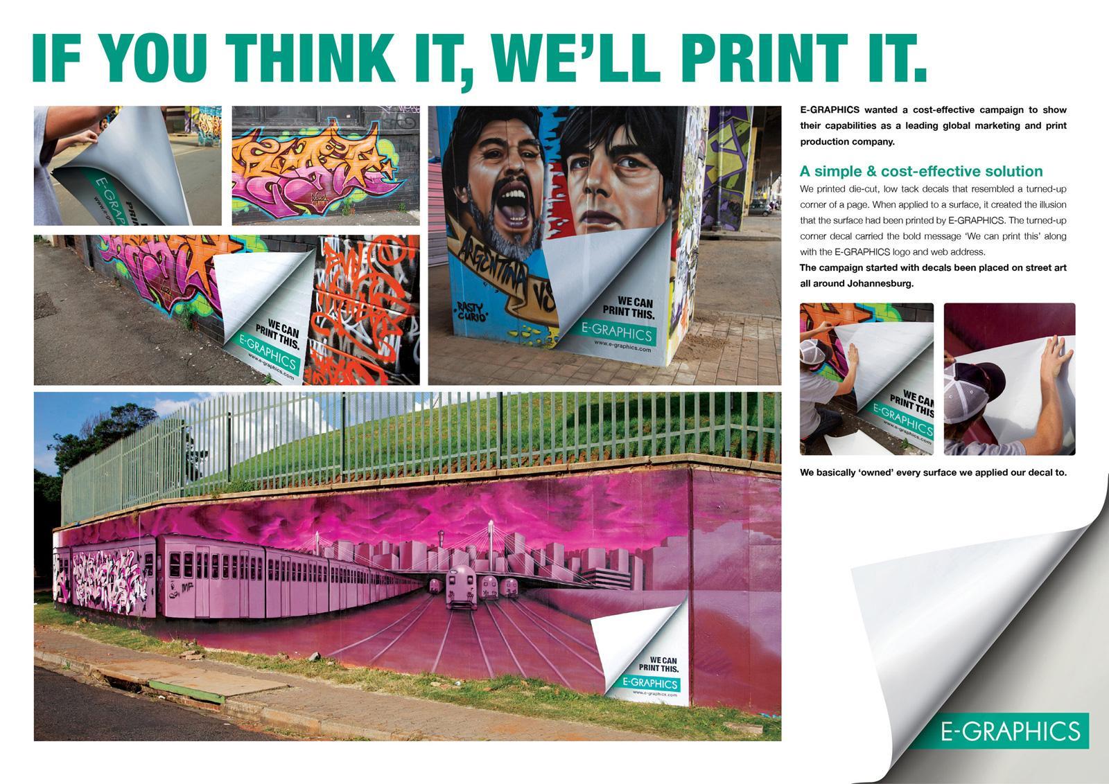 E-Graphics Outdoor Ad -  Street Art