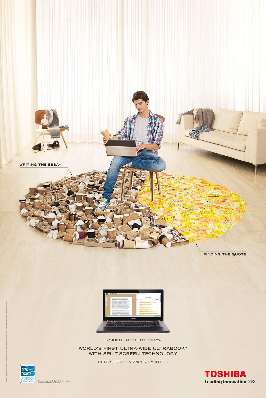 Toshiba Print Ad -  Studying