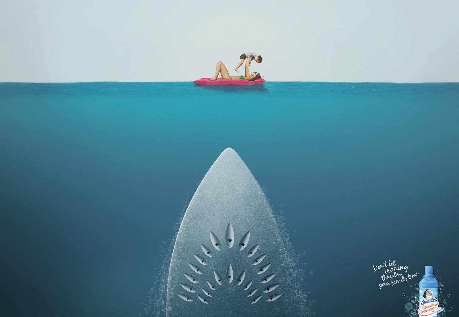 Suavitel Print Ad -  Shark