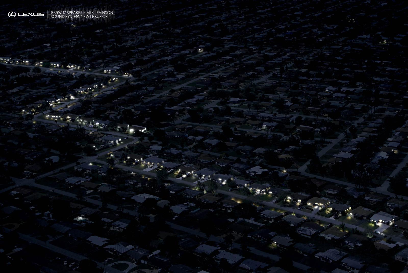 Lexus Print Ad -  Drive By, Suburbia