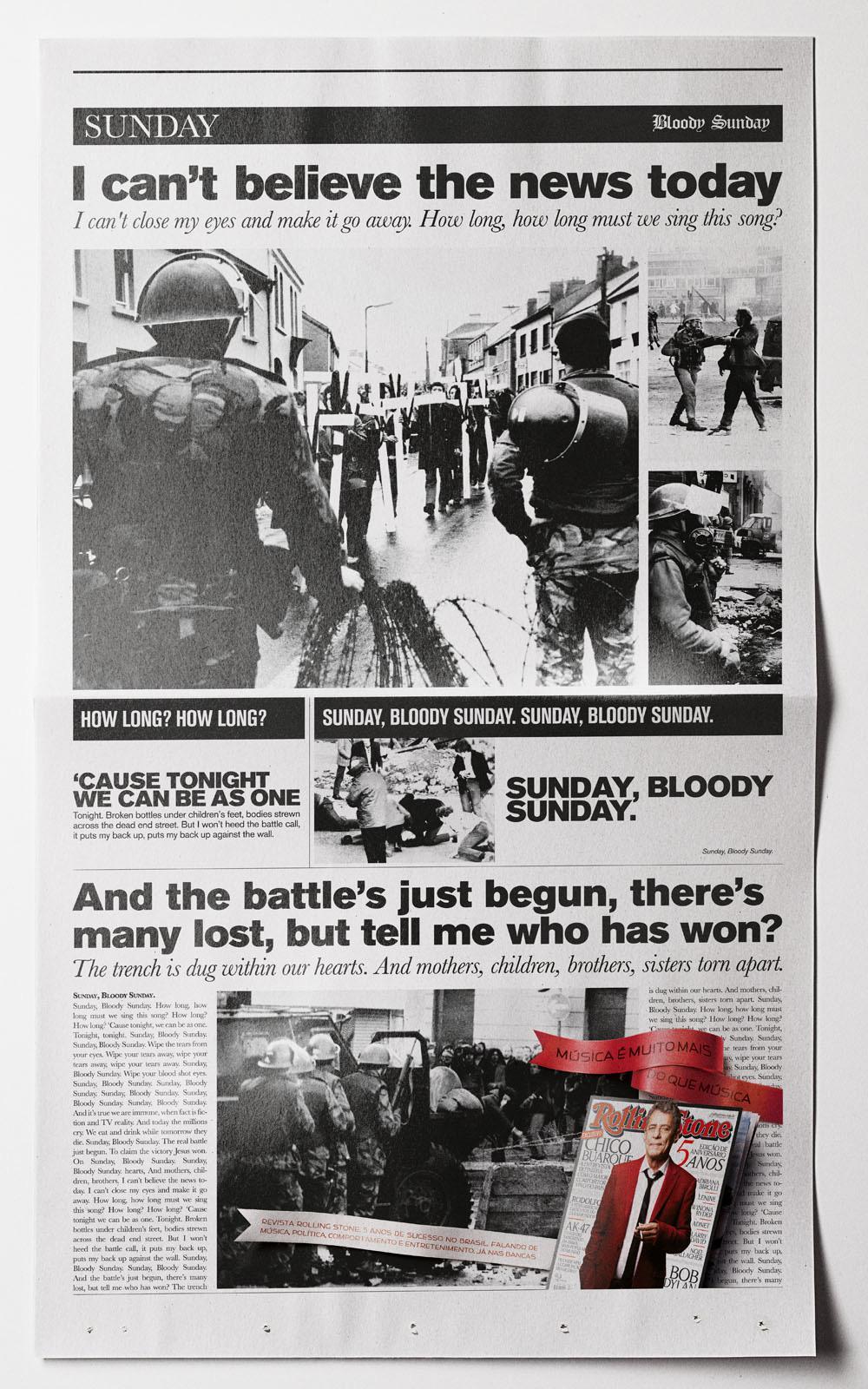 Rolling Stone Print Ad -  Sunday