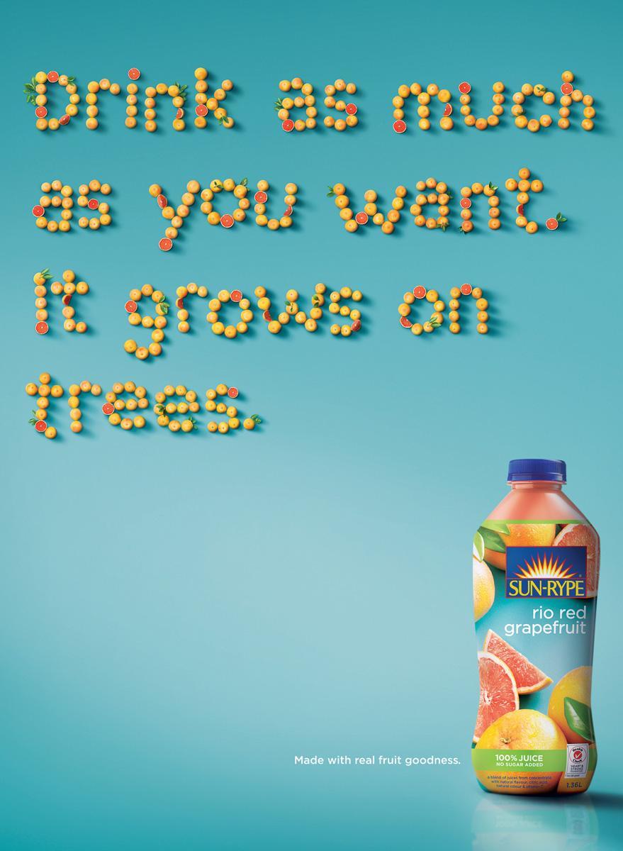 Sun-Rype Print Ad -  Trees
