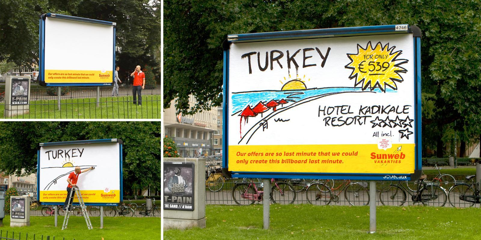 Sunweb Travel Outdoor Ad -  Last Minute Billboard