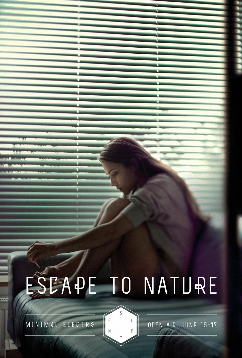 Supynės festival Print Ad -  Escape to nature, 2