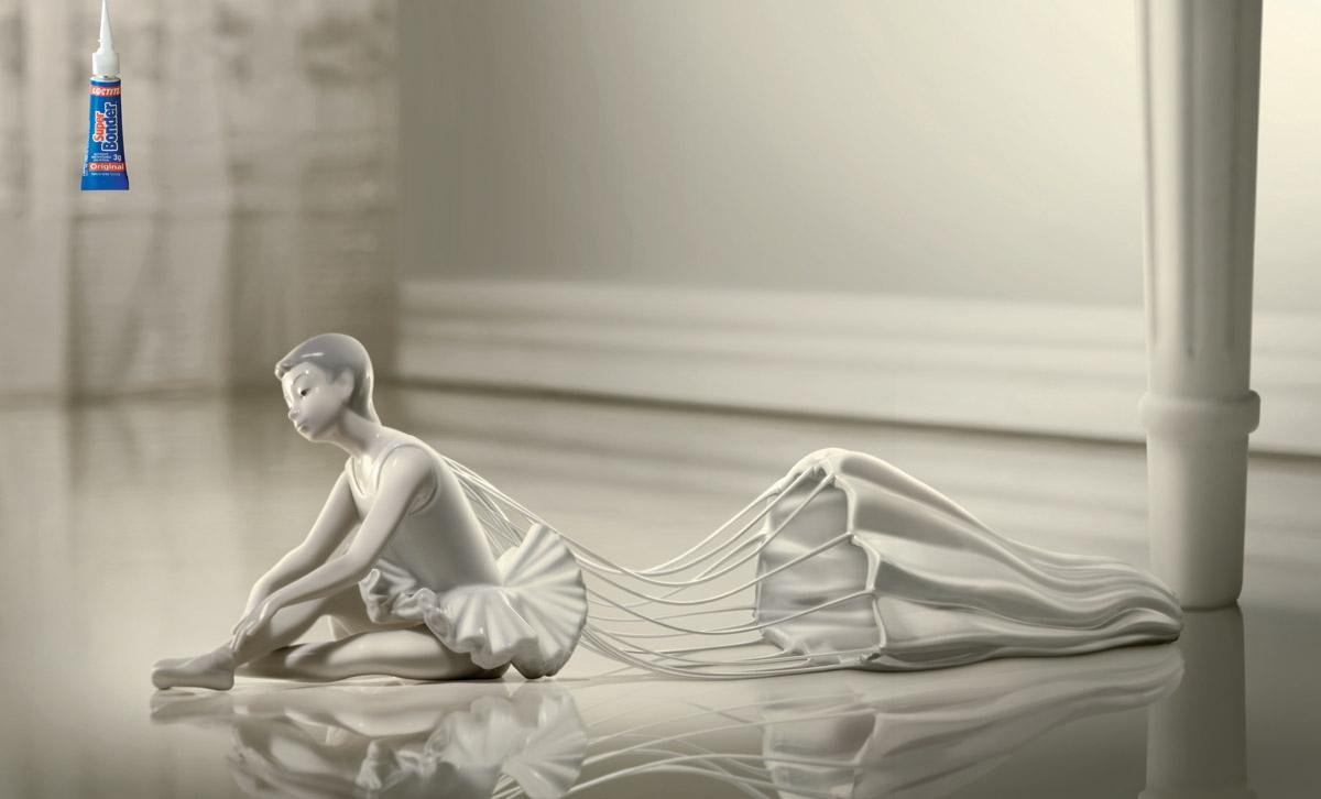 SuperBonder Print Ad -  Ballerina
