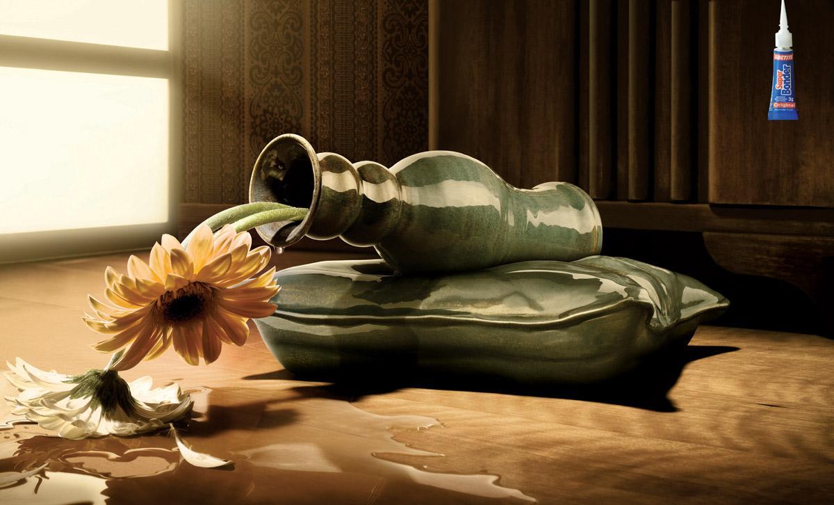 SuperBonder Print Ad -  Vase