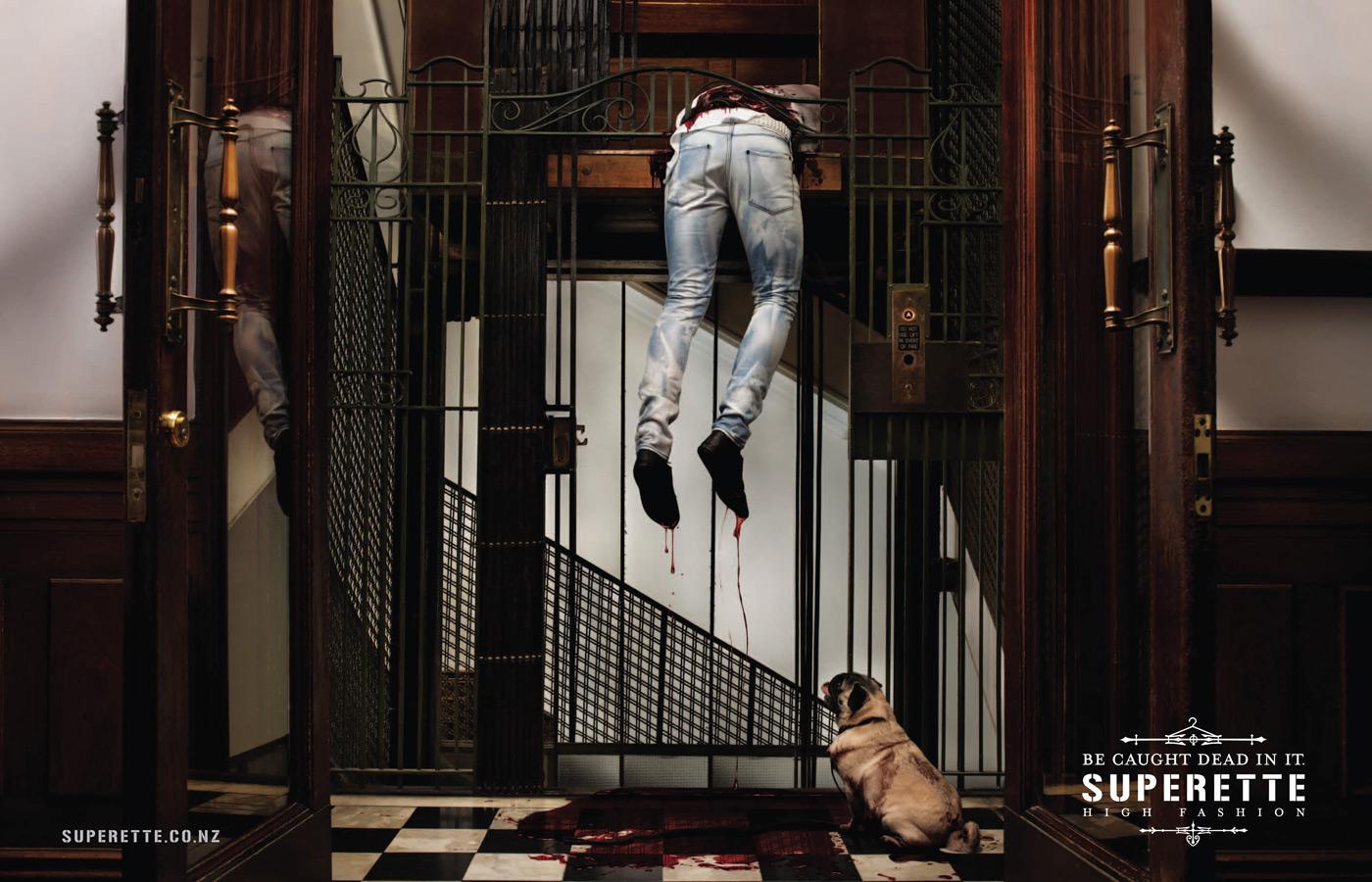Superette Print Ad -  Elevator