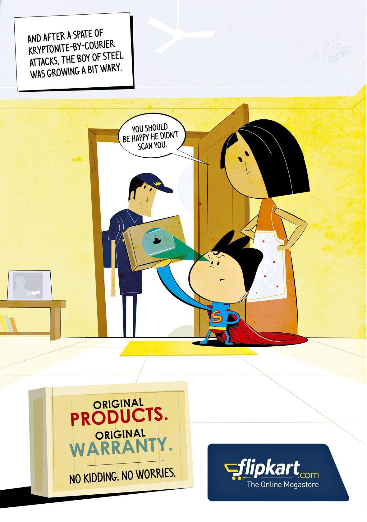 Flipkart Print Ad -  Super Kidding - Original Products