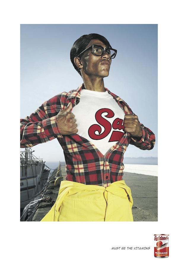 Saldanha Pilchards Print Ad -  Superman