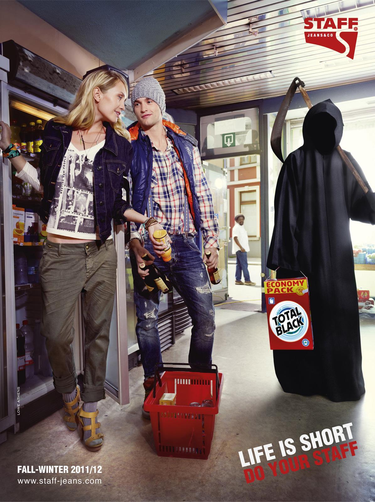 Staff Jeans Print Ad -  Supermarket