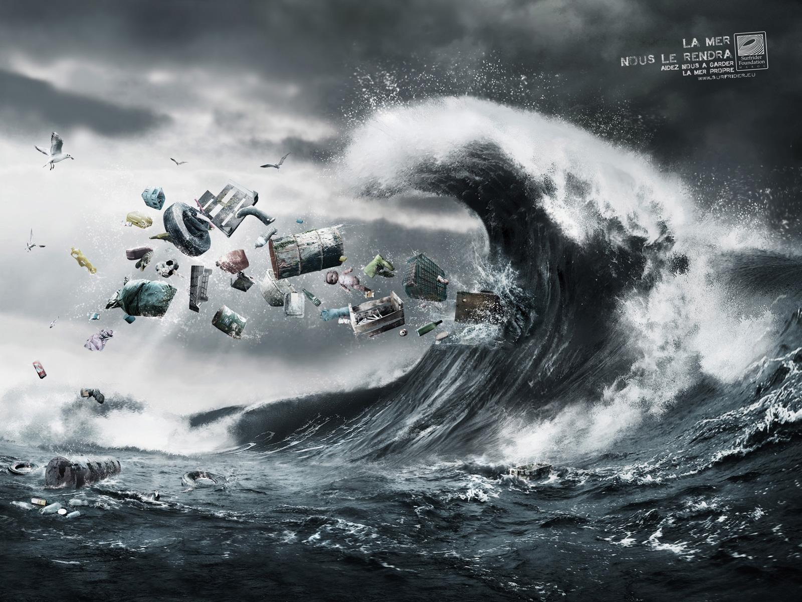 Surfrider Foundation Print Ad -  The wave