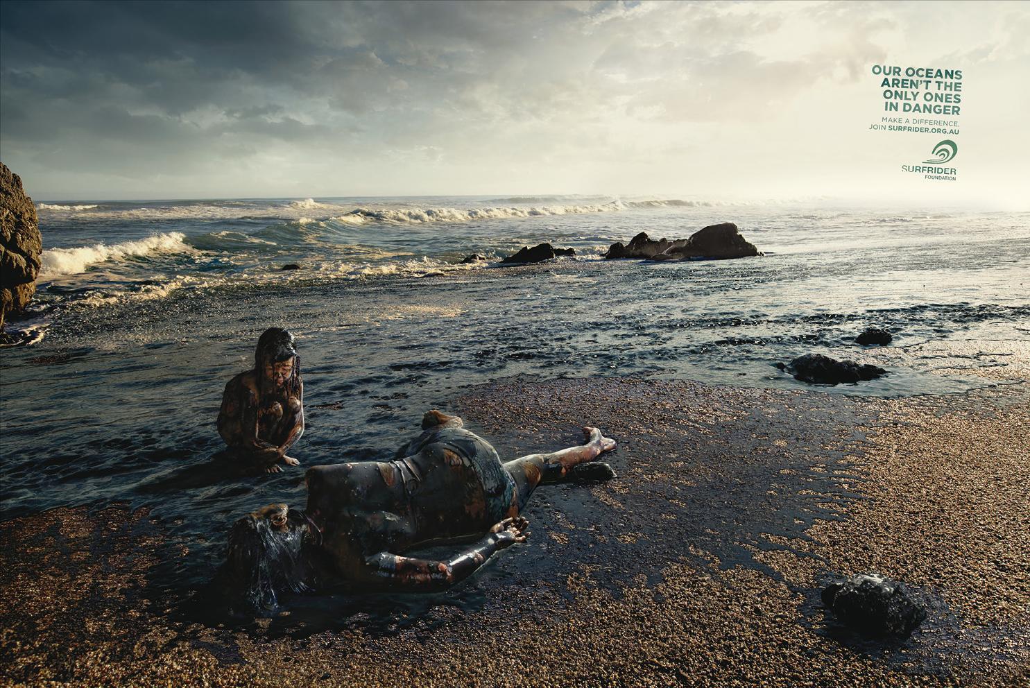 Surfrider Foundation Print Ad -  Oil Spill
