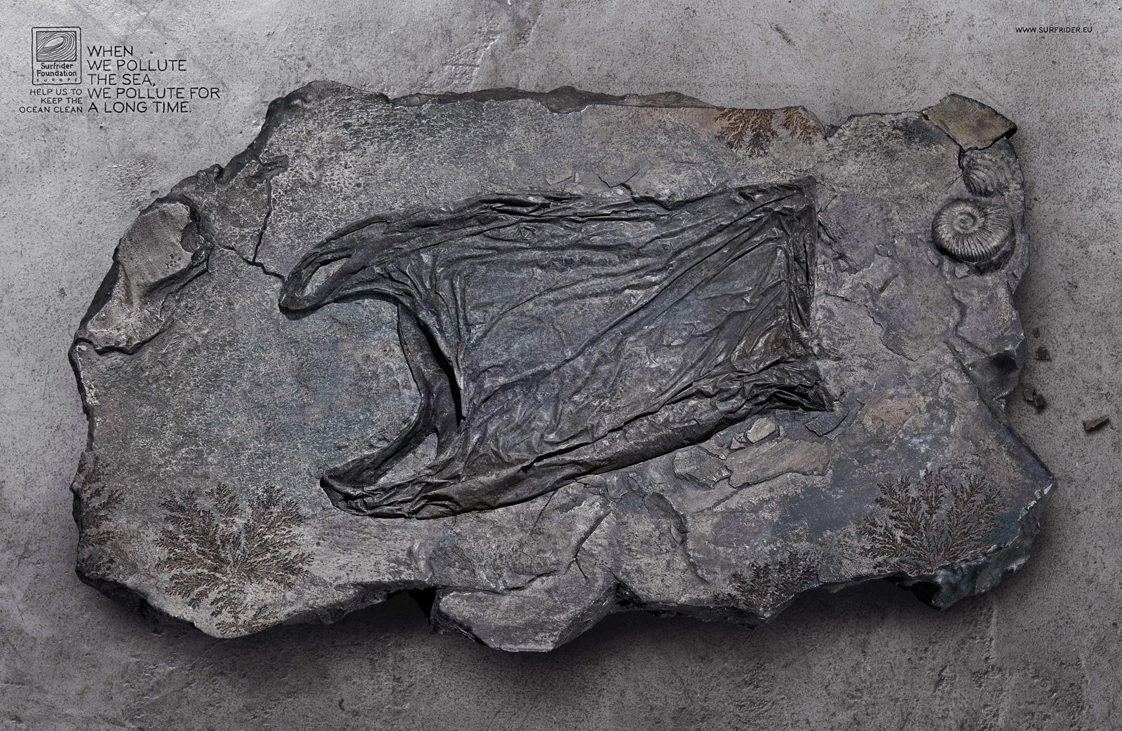 Surfrider Foundation Print Ad -  Fossil, Bag
