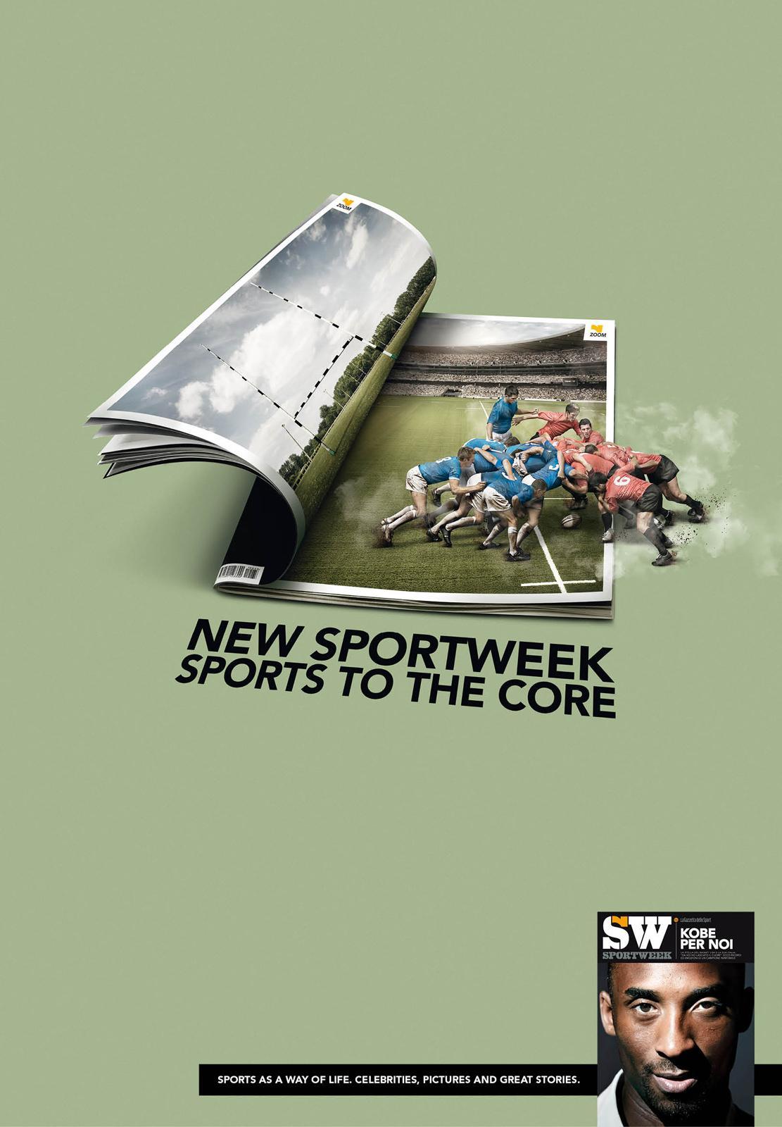 La Gazzetta dello Sport Print Ad -  Rugby