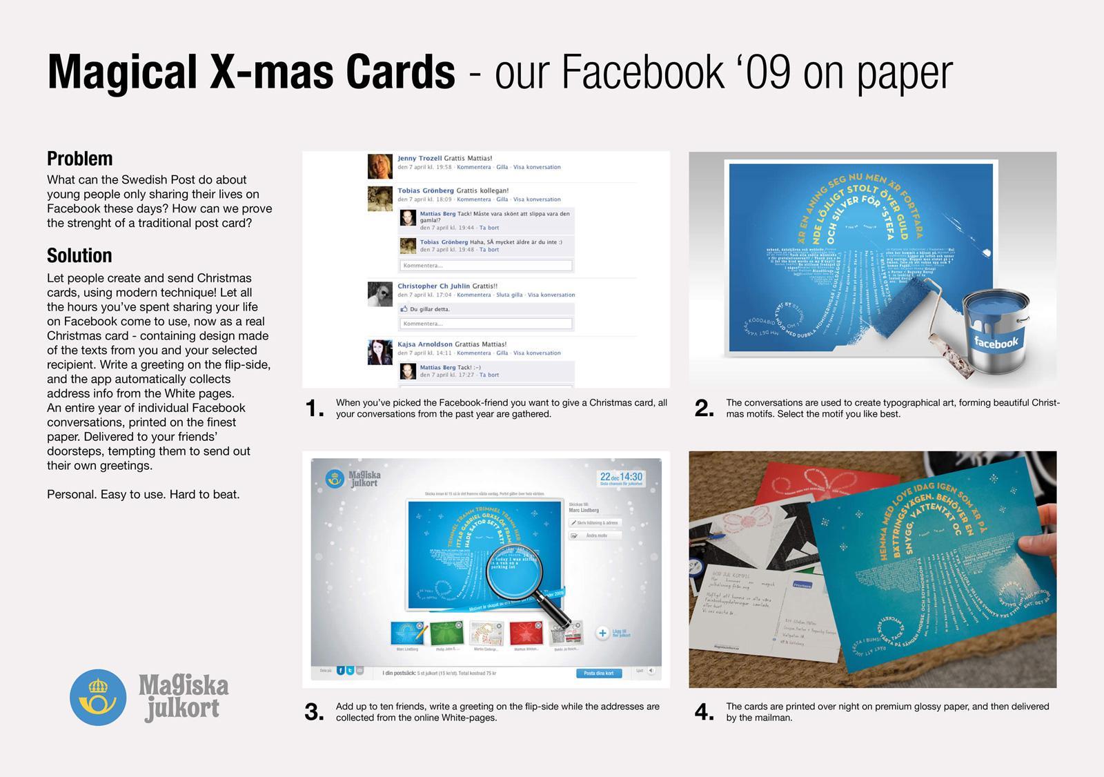 Swedish Postal Service Direct Ad -  Magical Christmas Cards