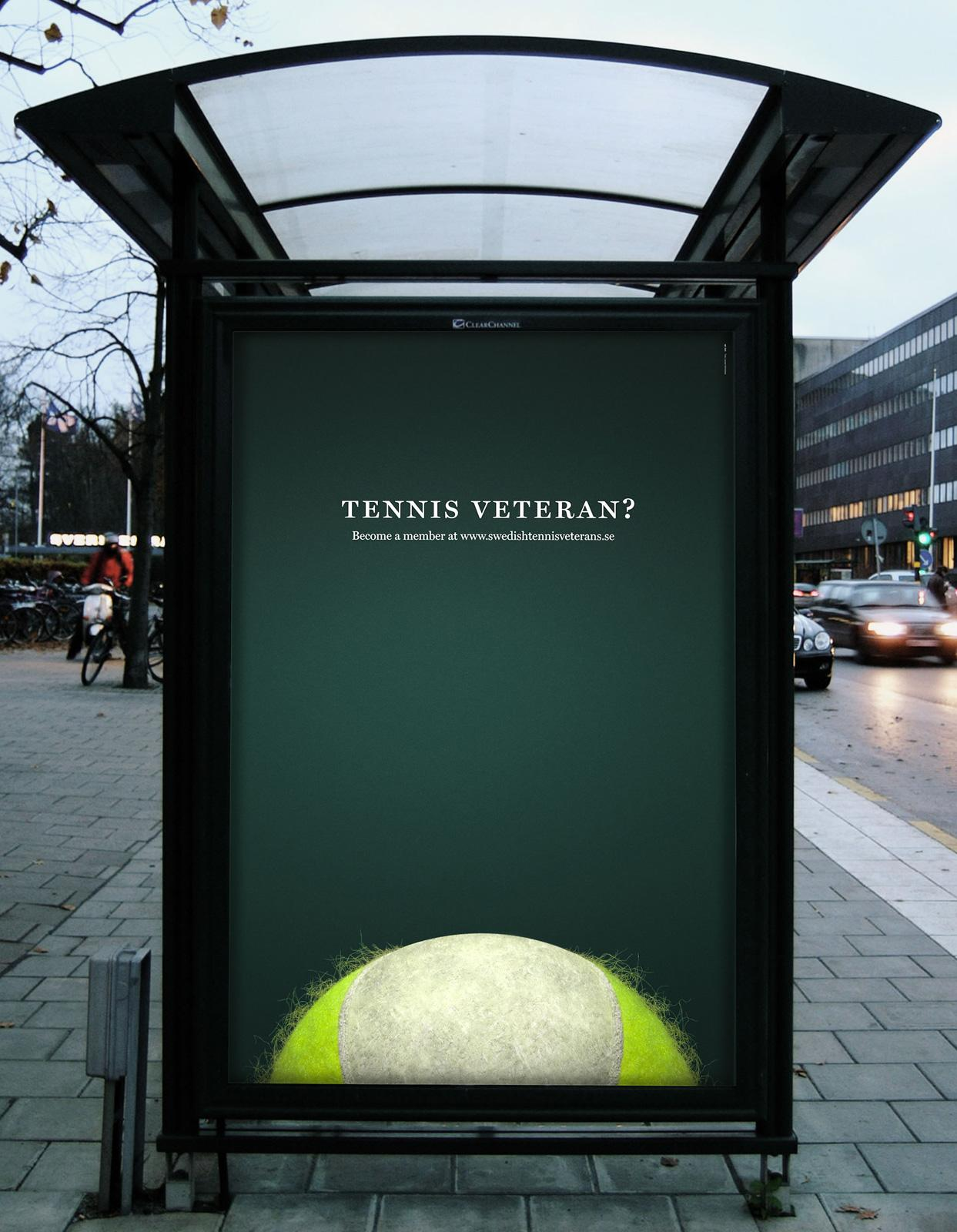 Swedish Tennis Veterans Outdoor Ad -  Tennis ball