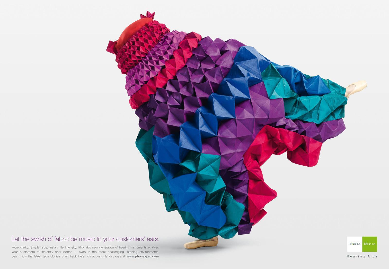Phonak Print Ad -  Spice, Swish of Fabric