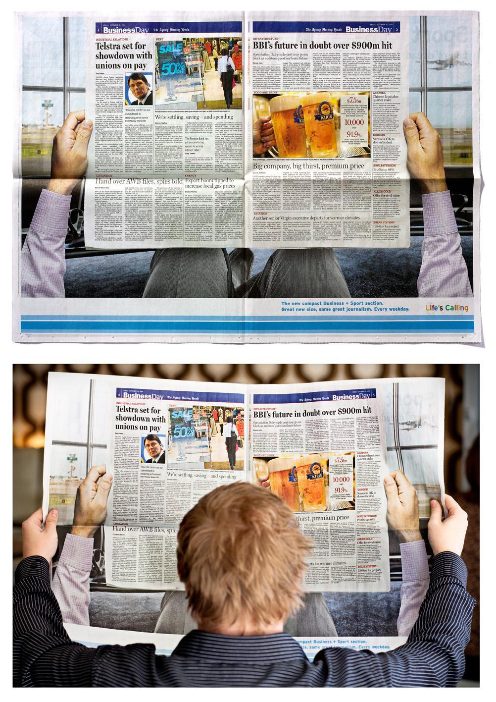 The Sydney Morning Herald Print Ad -  Size Change