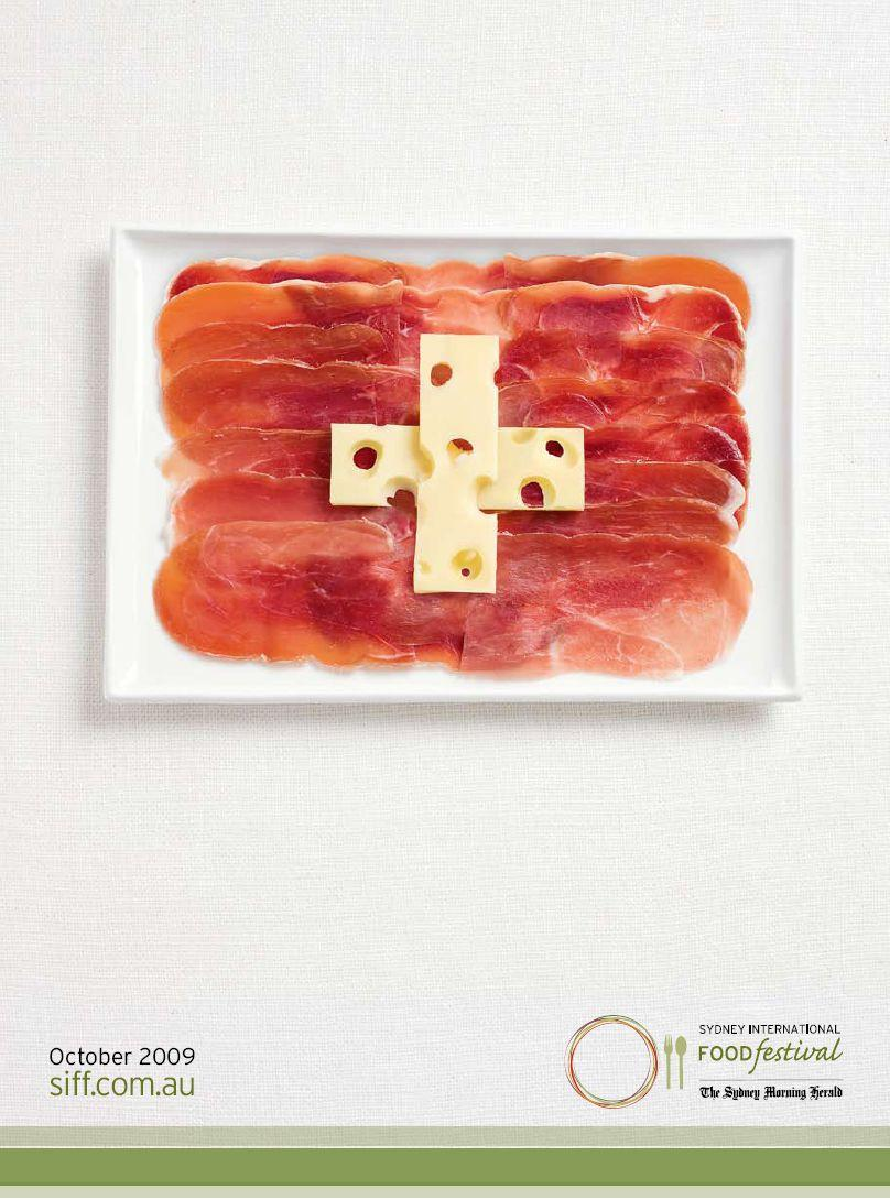 Sydney International Food Festival Print Ad -  Flags, Switzerland