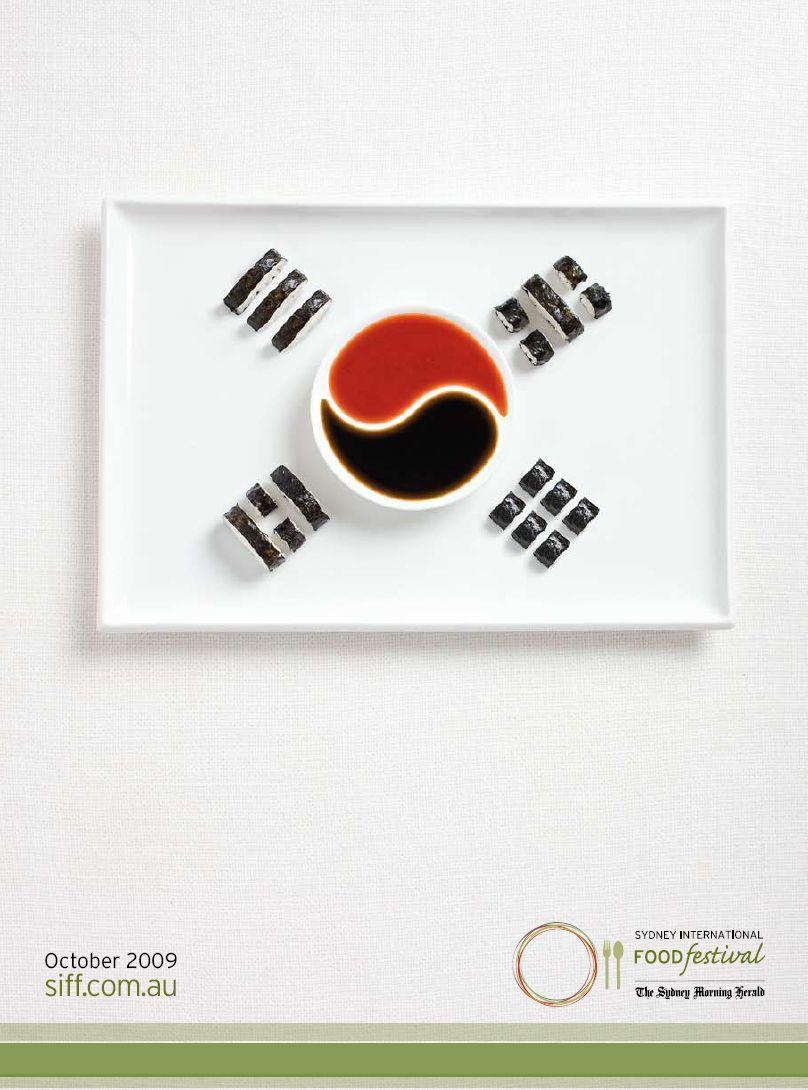 sydney international food festival print advert by tbwa flags