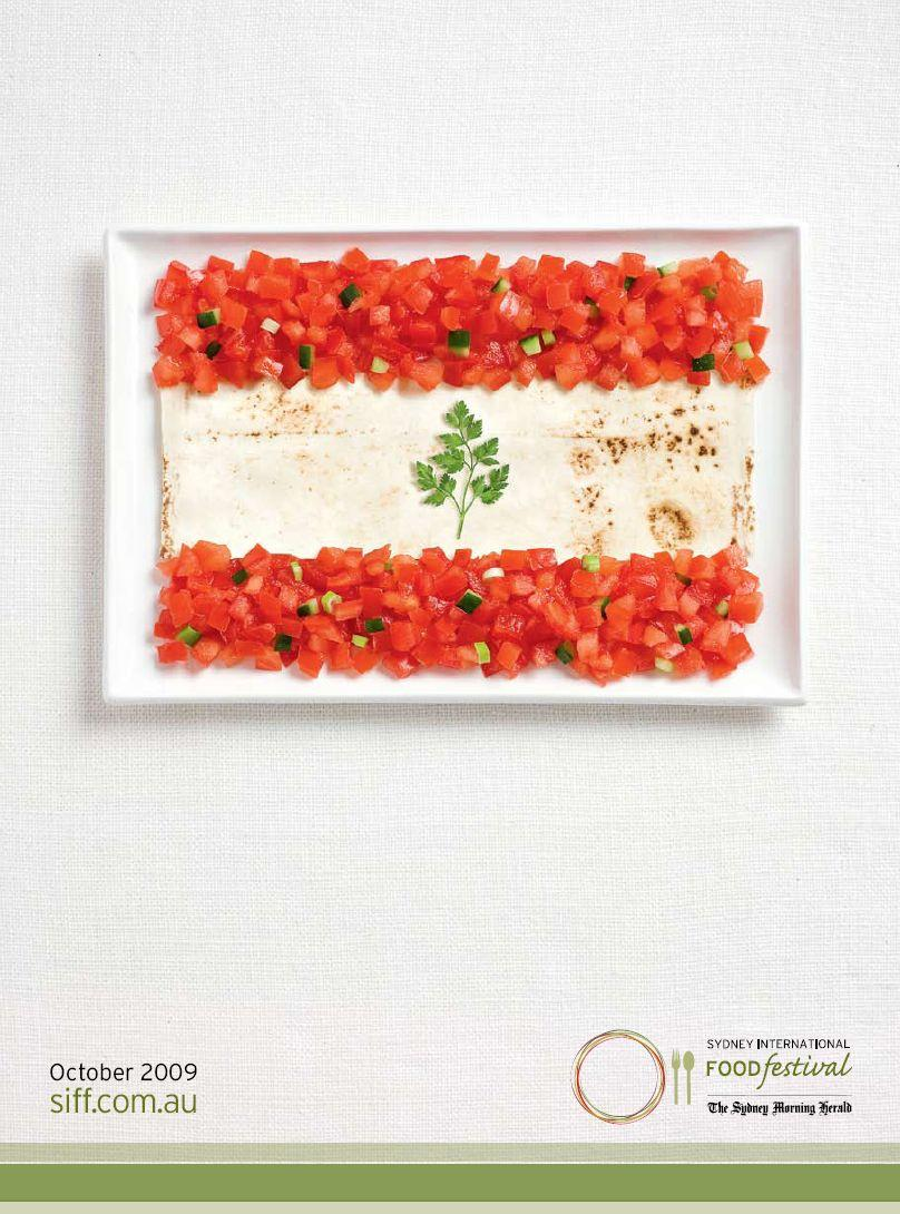 Sydney International Food Festival Print Ad -  Flags, Lebanon