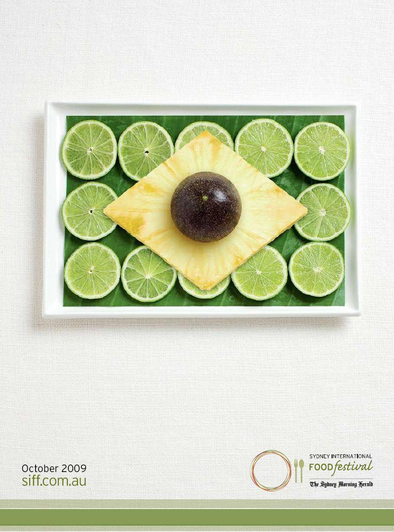Sydney International Food Festival Print Ad -  Flags, Brazil