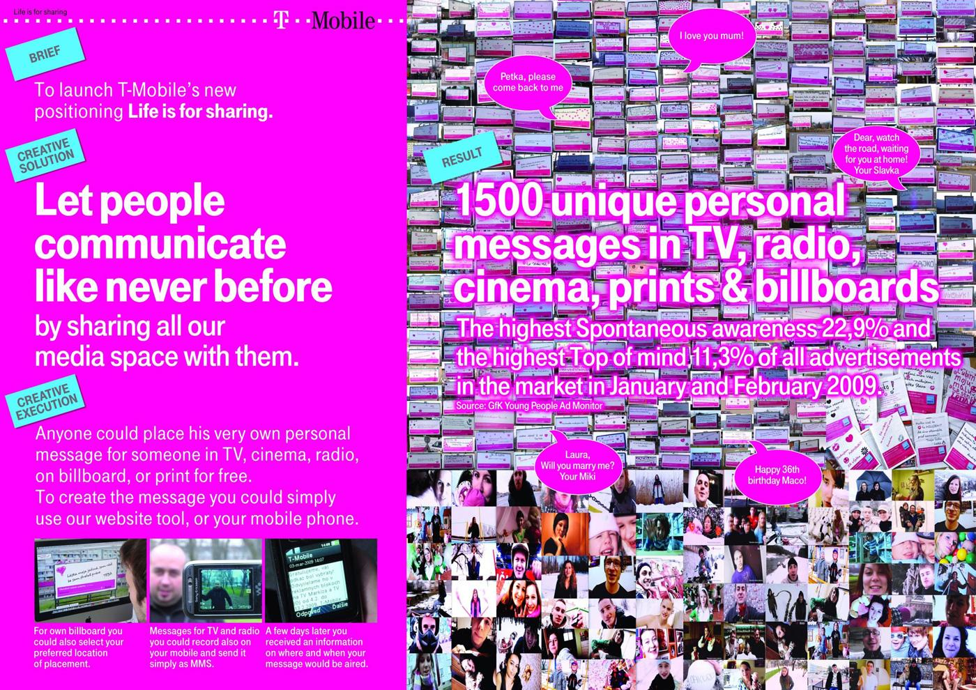 T-Mobile Ambient Ad -  Messages