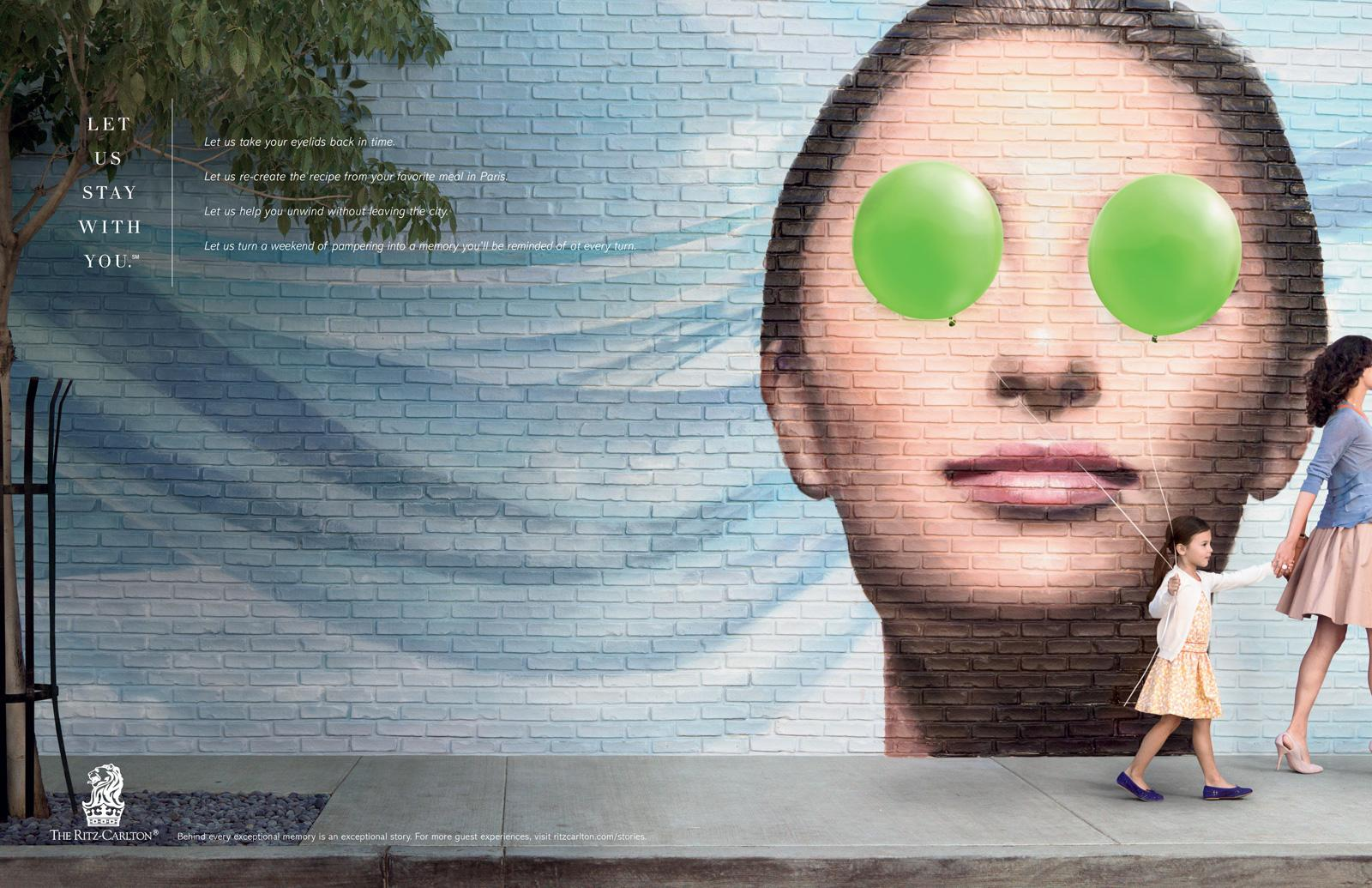 The Ritz-Carlton Print Ad -  Cucumber Eyes